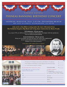 Banning Museum Phineas Banning Birthday Concert 2012